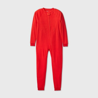 Kids' Adaptive Abdominal Access Cozy Fleece Pajama Jumpsuit - Cat & Jack™ Red