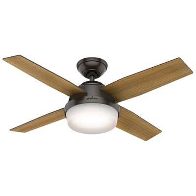 """44"""" LED Dempsey Integrated Ceiling Fan with Remote (Includes Light Bulb)  - Hunter Fan"""