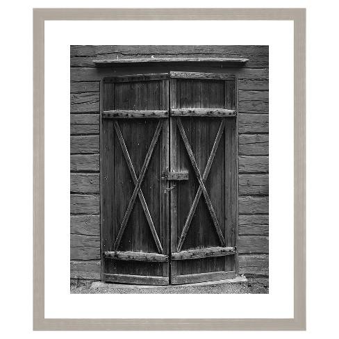 Black Barn Door 18X22 Wall Art - image 1 of 1