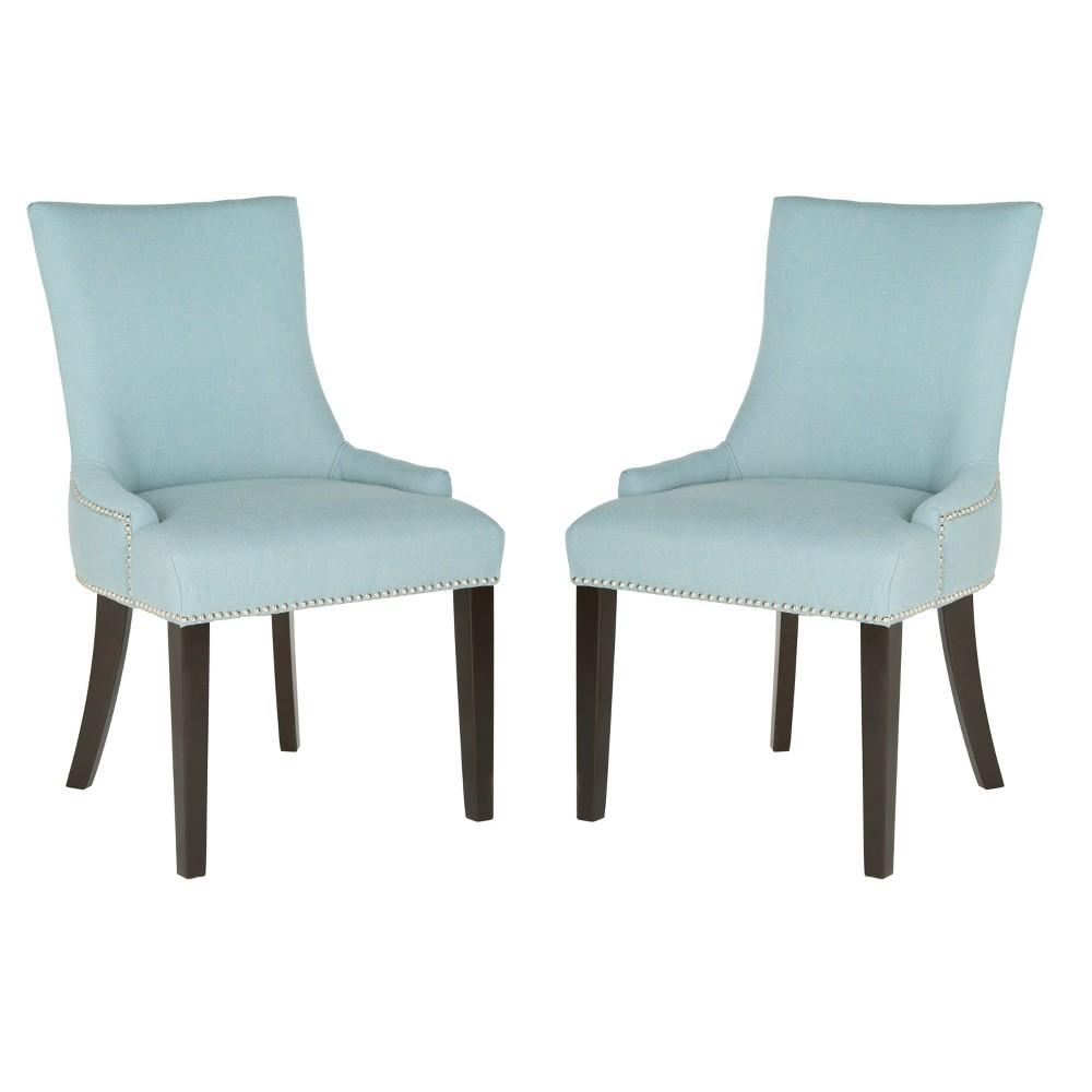 Set of 2 Dining Chairs Sky Blue - Safavieh