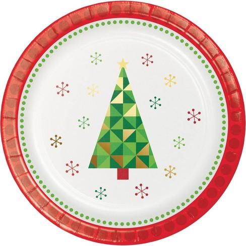 24ct Fractal Christmas Tree Dessert Plates Target
