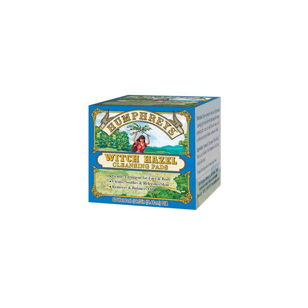 Image of Humphreys Witch Hazel Cleansing Pads - 60ct