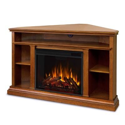 Real Flame Churchill Corner Electric TV Fireplace Oak