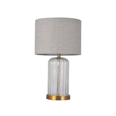 """18.5"""" Glass Base Table Lamp Clear (Includes LED Light Bulb)- Project 62™"""