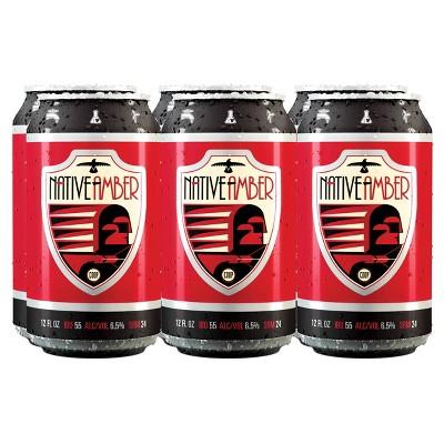 COOP Native Amber Beer - 6pk/12 fl oz Cans