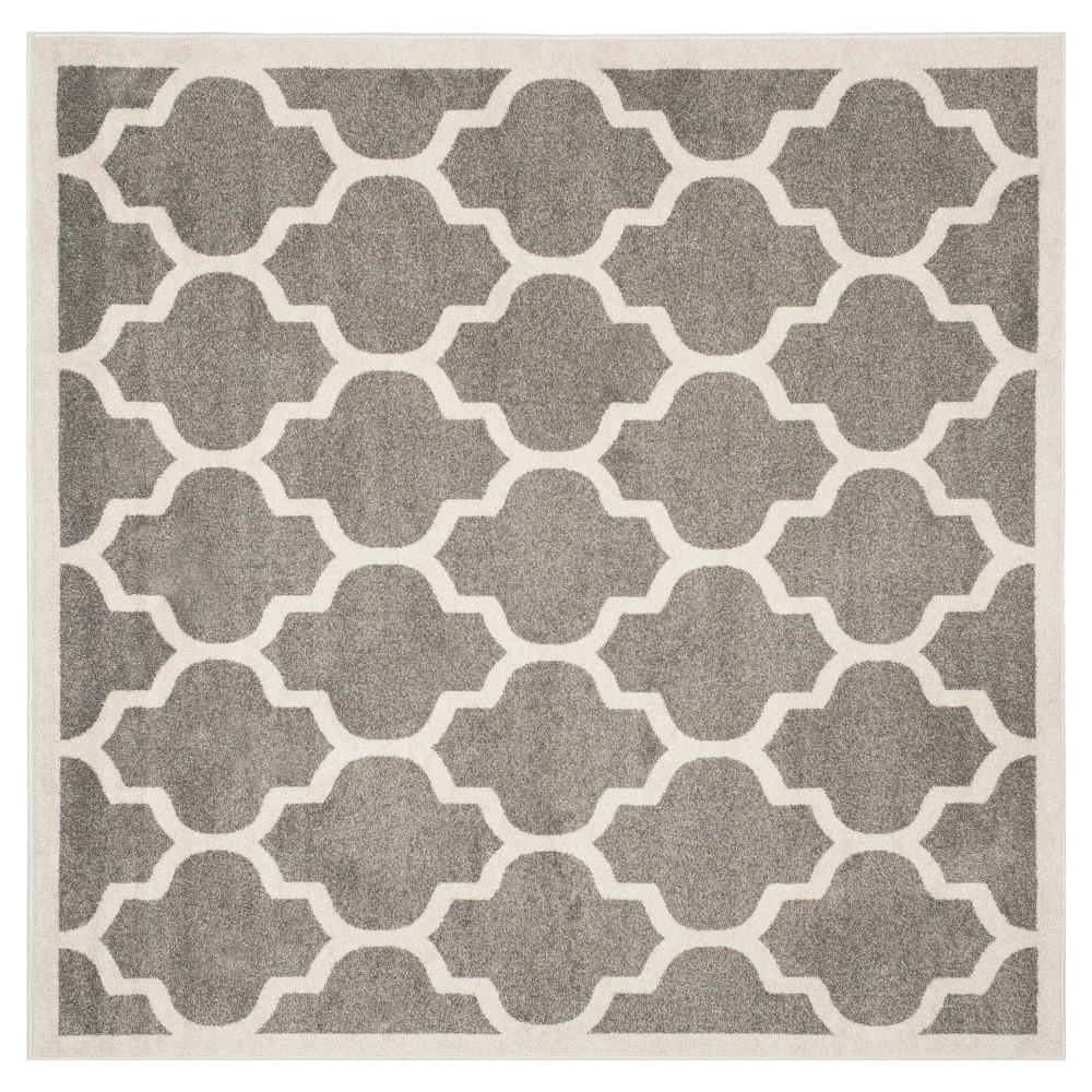Clichy Area Rug - Dark Gray / Beige (9' X 9') - Safavieh, Dark Gray/Beige