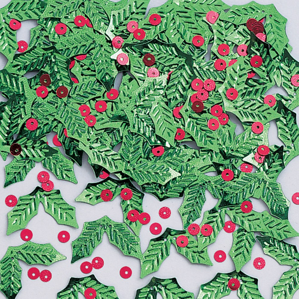 Holly & Berries Confetti Green