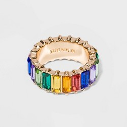 SUGARFIX by BaubleBar Rainbow Crystal Statement Ring