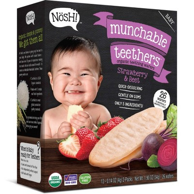 Nosh Baby Munchables Strawberry Beet - 1.9oz 26ct