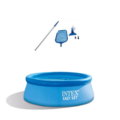 Intex Clean Kit w/ Vacuum Skimmer w/ Intex 8Ft x 30In Inflatable Swimming Pool - image 1 of 4