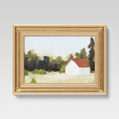 "12"" x 16"" Woodland Farmhouse I Framed Board - Threshold™"