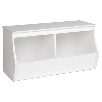Fremont Entryway Storage Cubbie - 2 Bin - White - Prepac