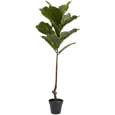 4' Fiddle Leaf Tree - Nearly Natural - image 1 of 4