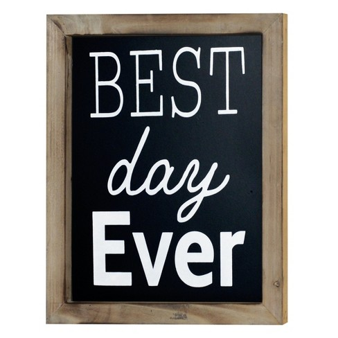 "Best Day Ever Wall Décor Black (10""x12"") - VIP Home & Garden - image 1 of 1"