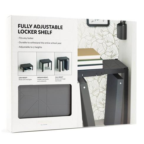 Plastic Adjustable Locker Shelf - Locker Style by UBrands - image 1 of 3