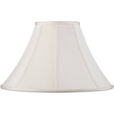 Springcrest Off-White Shantung Lamp Shade 7x18x10.5 (Spider)