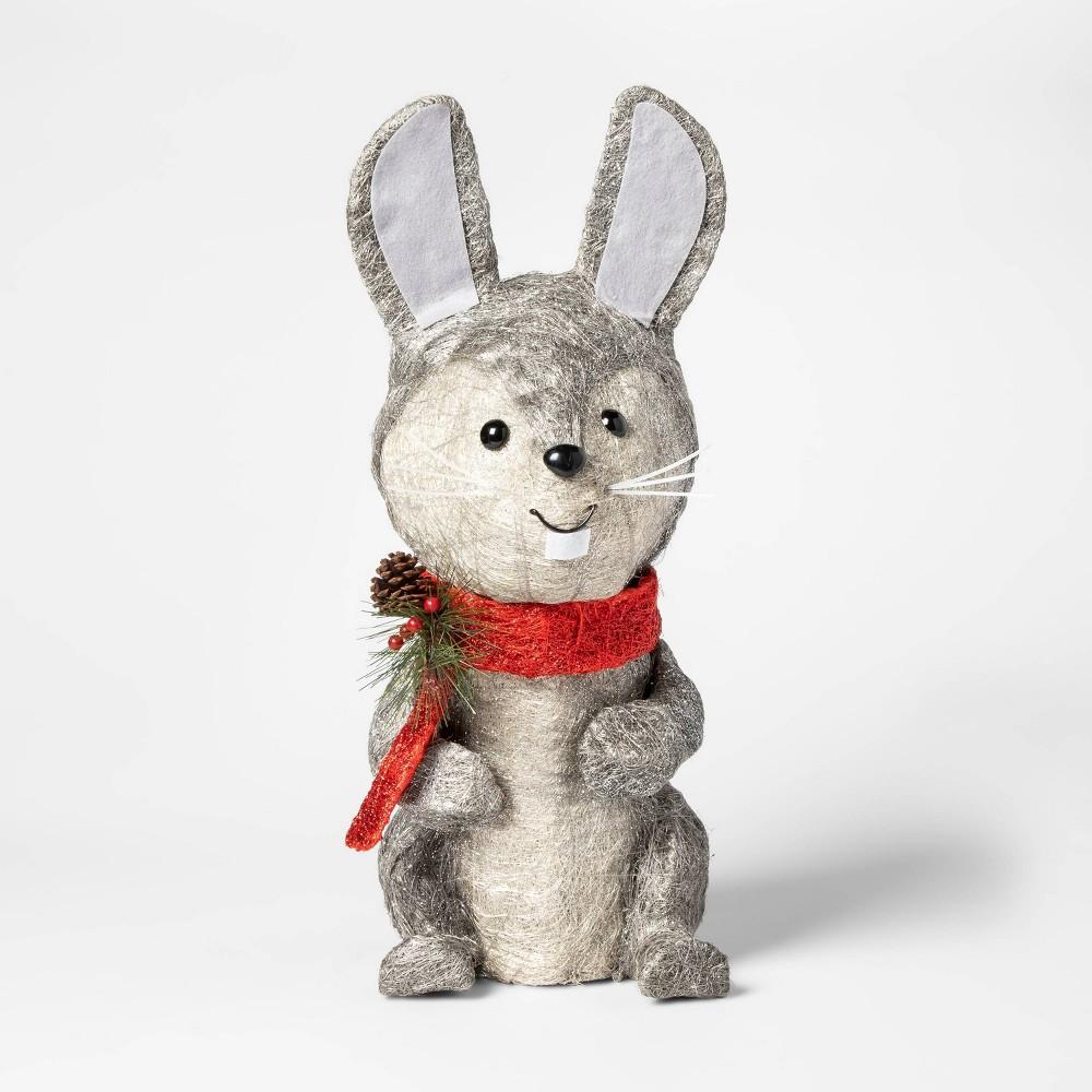 Image of 35 Light Christmas Rabbit Novelty Sculpture - Wondershop