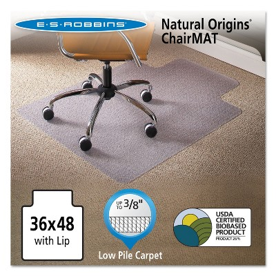 3'x4' Rectangle Solid Office Chair Mat Clear - ES Robbins