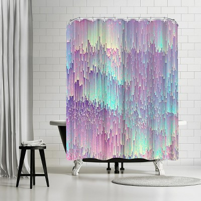 """Americanflat Iridescent Glitches by Emanuela Carratoni 71"""" x 74"""" Shower Curtain"""