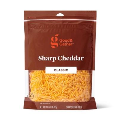 Shredded Sharp Cheddar Cheese - 16oz - Good & Gather™