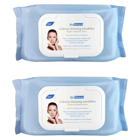 BioMiracle Makeup Cleansing Towelettes - 120 ct - image 1 of 3