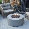 Venice Concrete Propane Fire Table - Black - Modeno - image 2 of 2