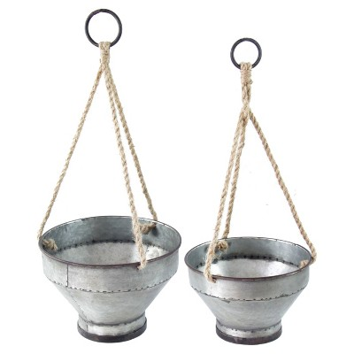Metal Hanging Planter Set 2pc - VIP Home & Garden