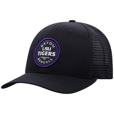 NCAA LSU Tigers Men's Black Twill with Hard Mesh Back Hat