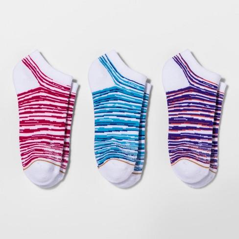 All Pro® Women's 3pk Coolmax® No Show Socks - Purple - image 1 of 2