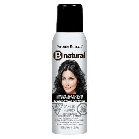 Jerome Rus B Natural Temporary Hair Color Spray Black 3 5 Oz Target