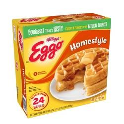 Kellogg's Eggo Frozen Waffles Homestyle - 24ct