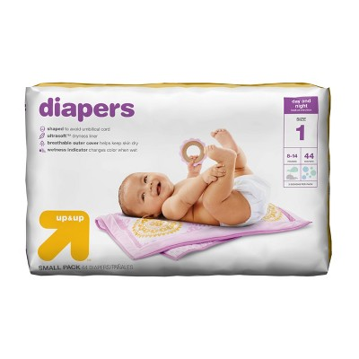 Diapers Small Pack Size 1 44ct - Up&Up™
