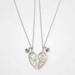 Girls' 2pk Glitter Heart Pendant BFF Necklace Set - Cat & Jack™