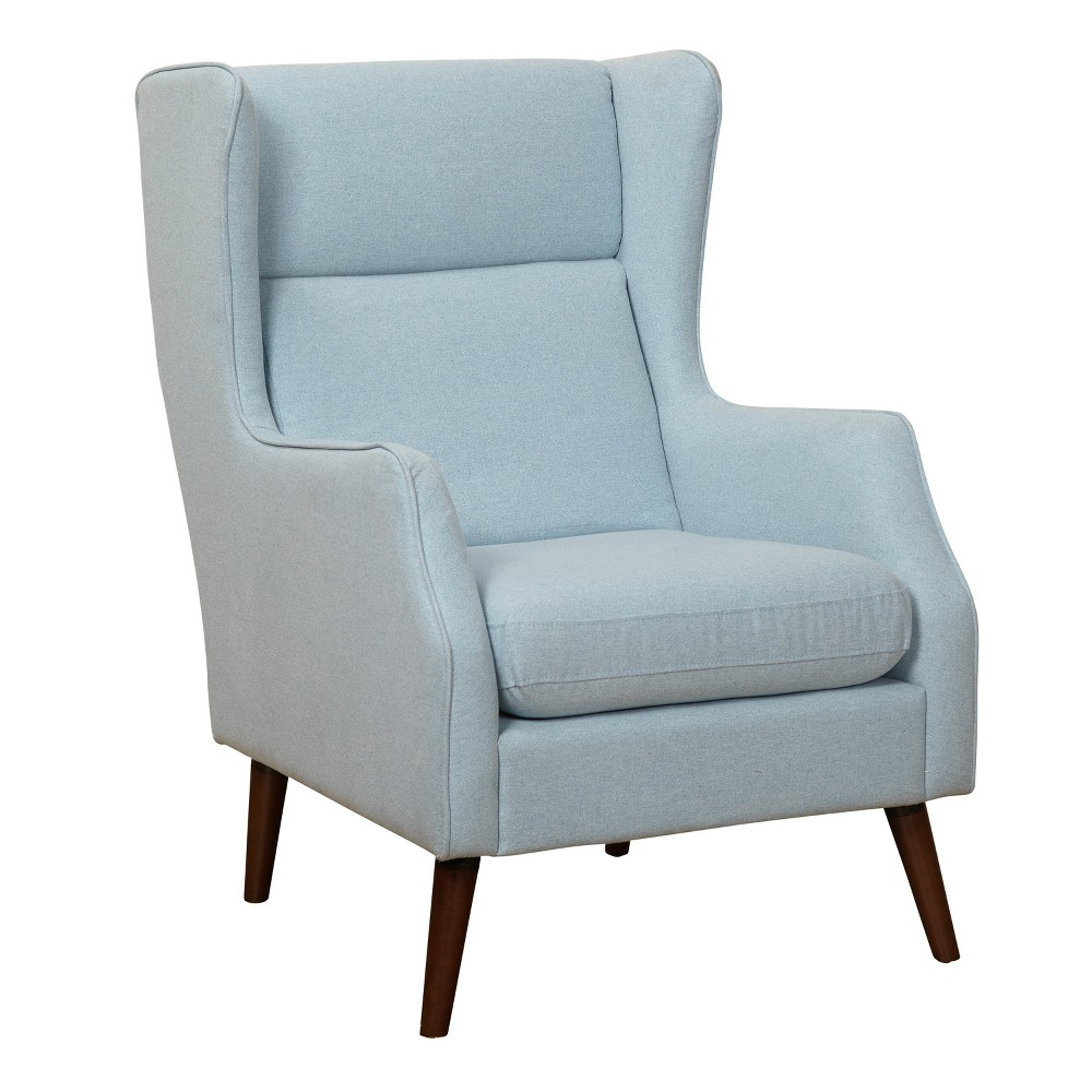 Alana Wing Chair - Light Blue - Buylateral, Lite Blue