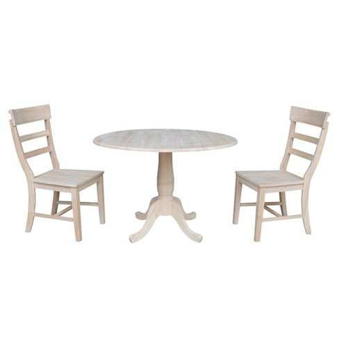 """29.5"""" Ava Round Table with Two Hammerty Chairs Blue - International Concepts - image 1 of 4"""