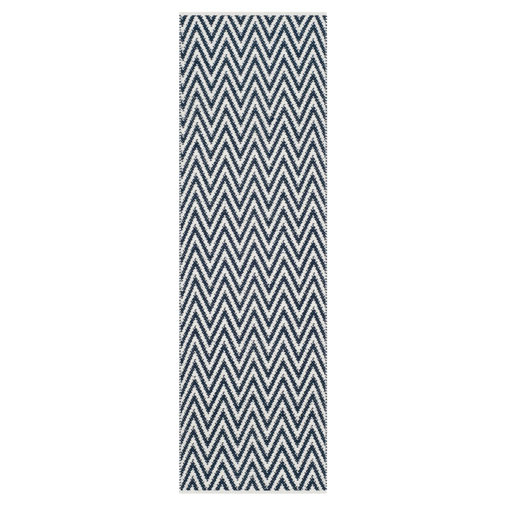 Montauk Rug - Navy/Ivory (Blue/Ivory) - (2'3x7') - Safavieh