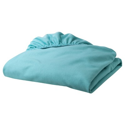 TL Care Jersey Knit Fitted Sheet - Turquoise