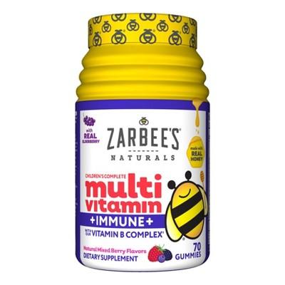 Zarbee's Naturals Children's Complete Multivitamin + Immune Gummies - Natural Mixed Berry - 70ct