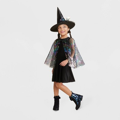 Kids' Spider Web Witch Halloween Costume Dress with Accessories - Hyde & EEK! Boutique™