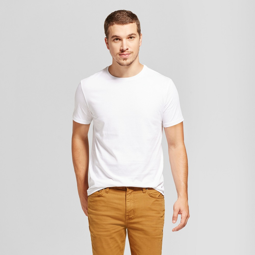 Men's Slim Fit Solid Crew T-Shirt - Goodfellow & Co White L