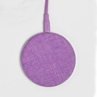 heyday™ Qi Wireless Fabric Charging Puck - Lilac Fancy
