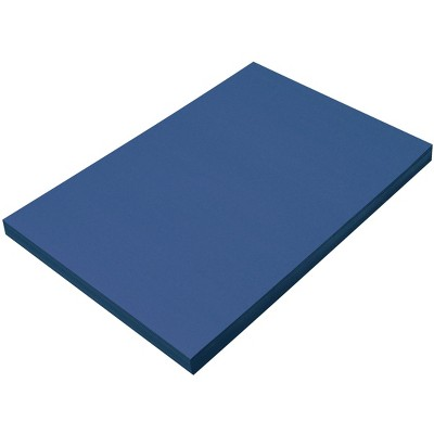 SunWorks Heavyweight Construction Paper, 12 x 18 Inches, Bright Blue, 100 Sheets