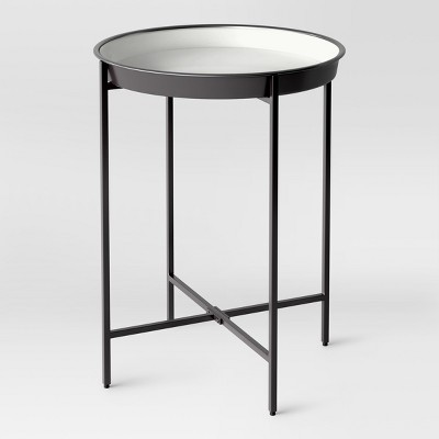 Attirant Pradet Tray Accent Table Black/White   Project 62™