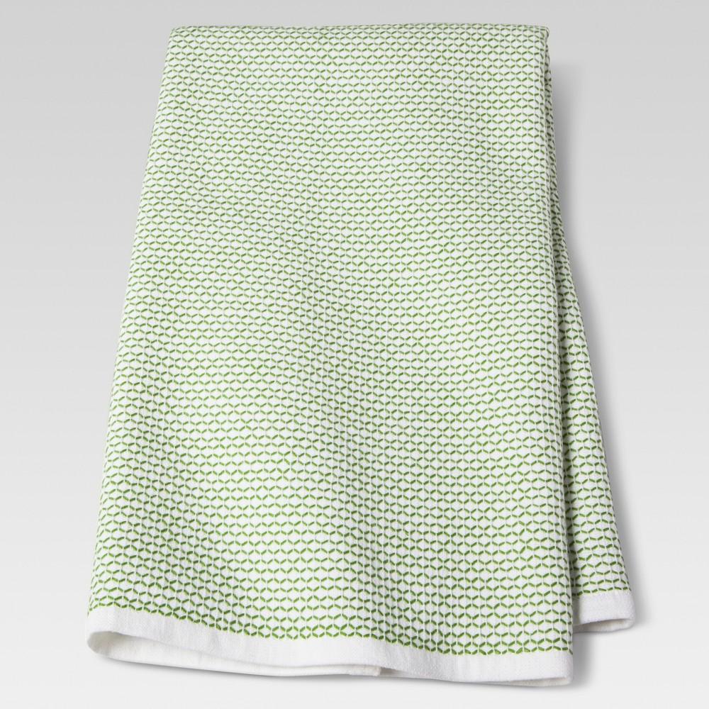 "Image of ""28""""x18"""" Zig Zag Kitchen Towel Green - Threshold"""