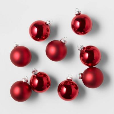 9ct Glass Round Christmas Ornament Set - Wondershop™