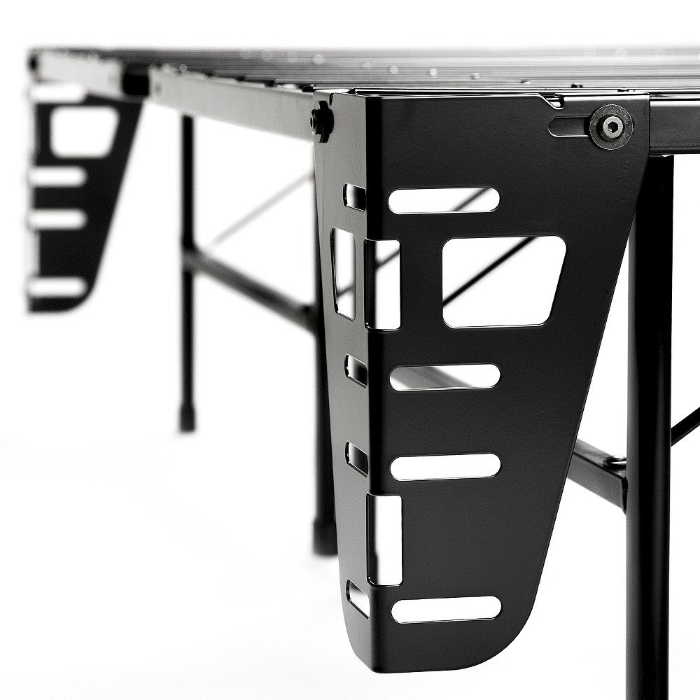 Sleep Revolution Bed Skirt and Headboard/Footboard Bracket - Set of 4 (Twin XL), Black