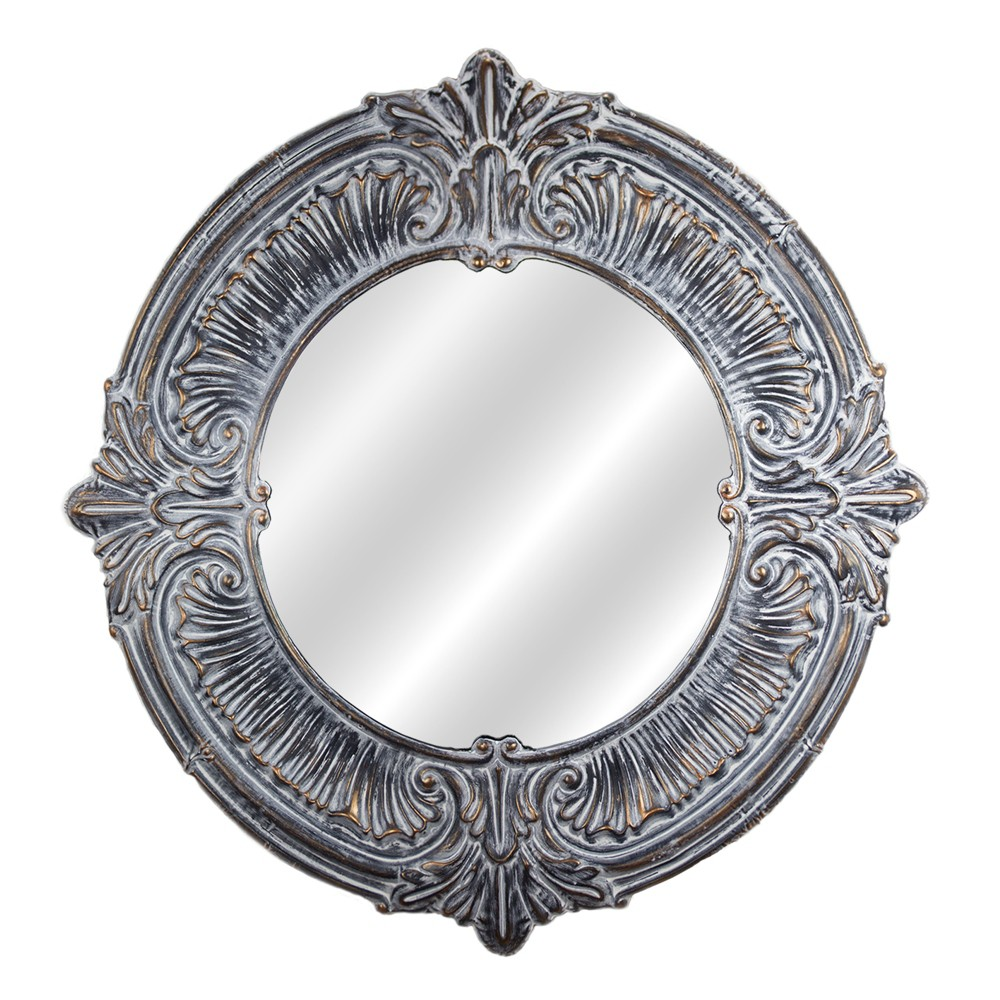 "Image of ""38.98x0.98""""x38.98"""" Decorative Metal Wall Mirror Gray - E2 Concepts"""
