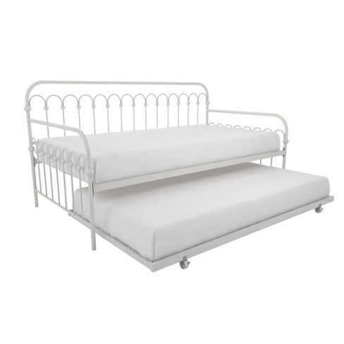 info for 38bf0 2b556 Twin Bright Pop Metal Daybed with Roll Out Trundle White - Novogratz