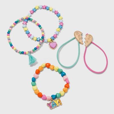 Girls' 5pk Heart Tassel Bracelet Set - Cat & Jack™