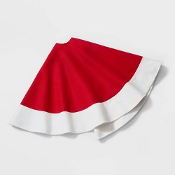 "48"" Felt Christmas Tree Skirt Red - Wondershop™"